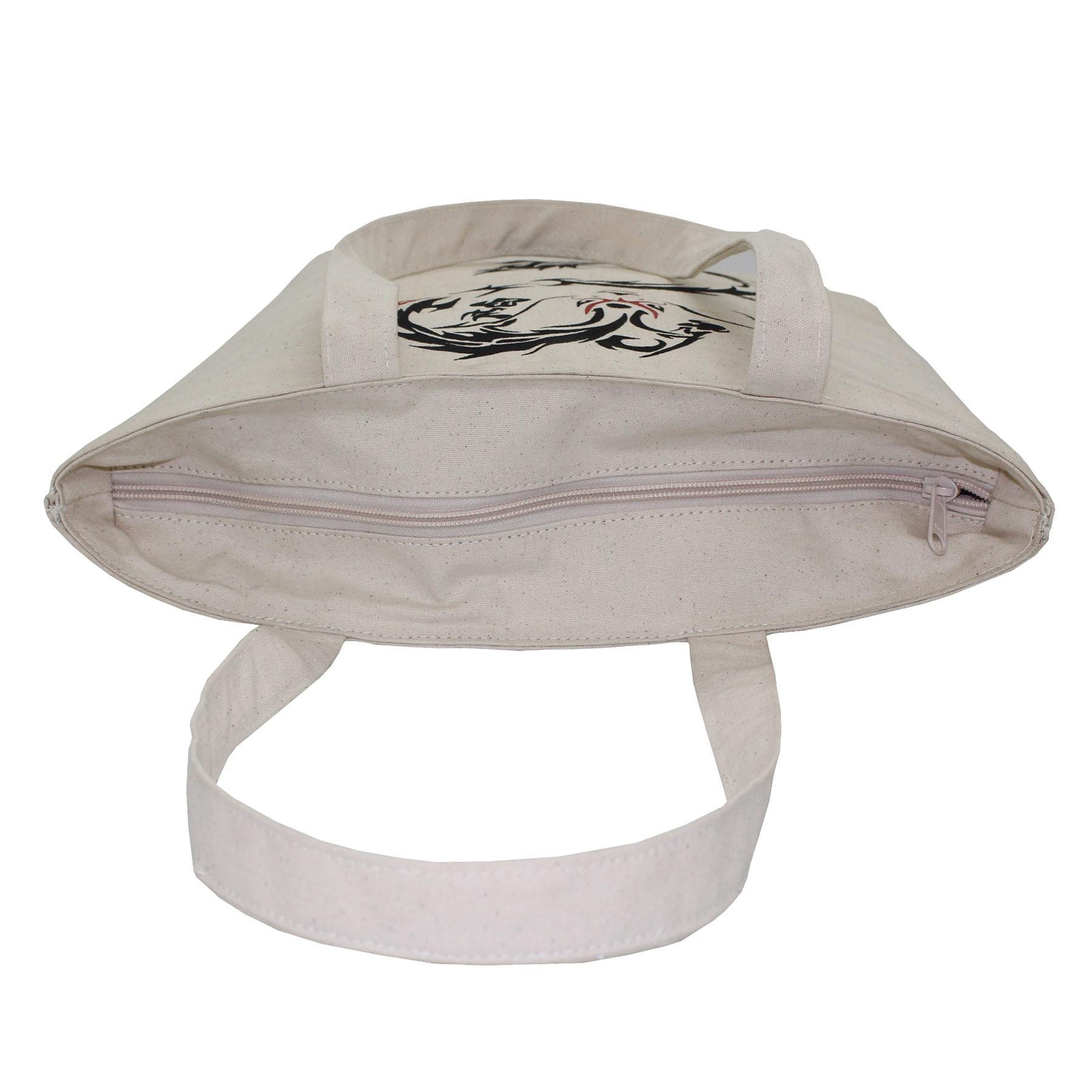 12 Oz Natural Canvas Cooler Bag With Inside Insulator