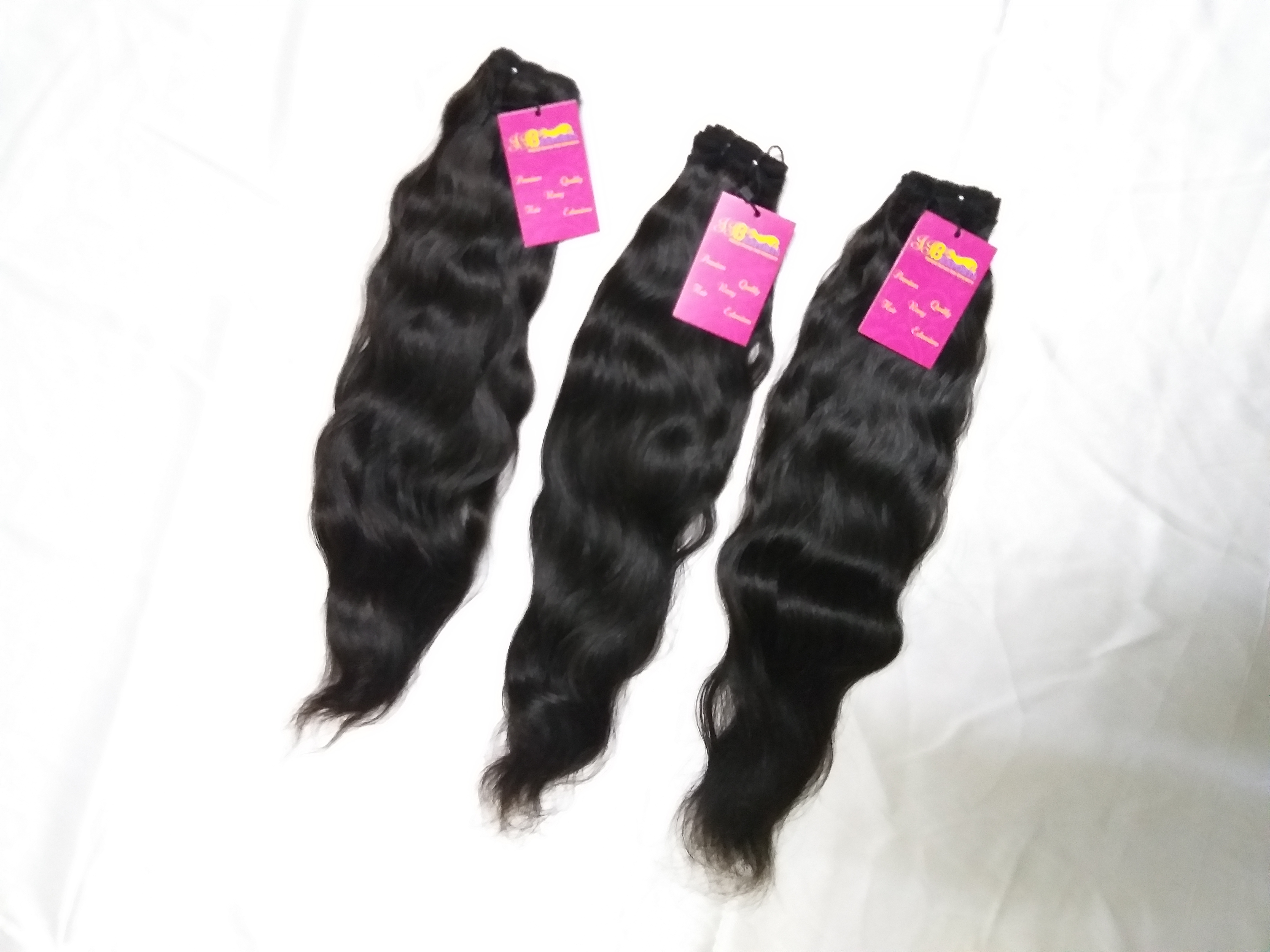 Premium Quality Indian Single Drawn Wavy Virgin Brazilian Remy Human Hair Bundle