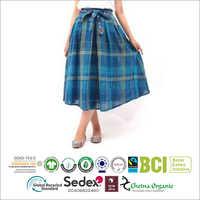 Ladies Check Summer Skirt
