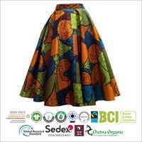 Ladies Printed Midi Skirt