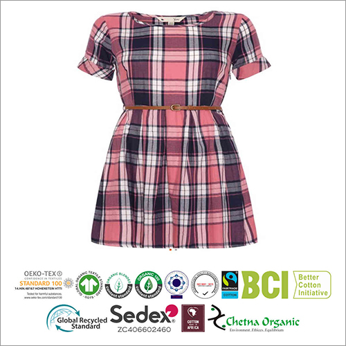Ladies Checked Shirt Dress