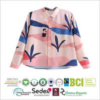 Soft Hand Feel Flannel Fabric Made Woven Ladies Top Supplier