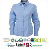 Mens Cotton Blue Shirt