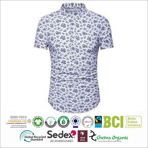 Mens Printed Half Sleeve Shirts