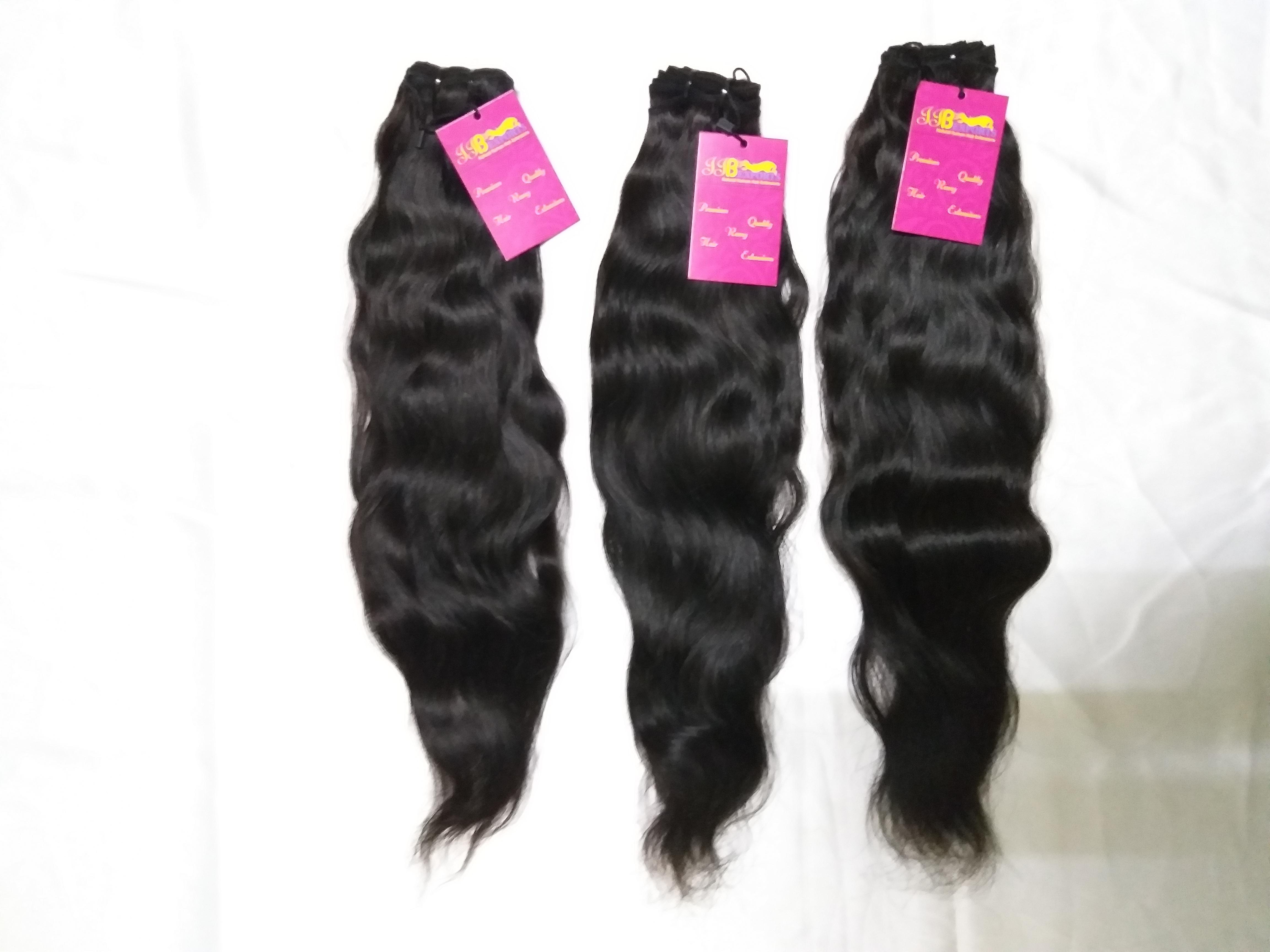 Raw Unprocessed Single Donor Soft & Silky Virgin Remy Wavy Machine Weft Human Hair