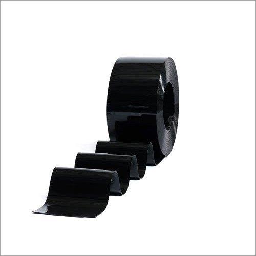 Opaque Black PVC Strip Curtain Roll