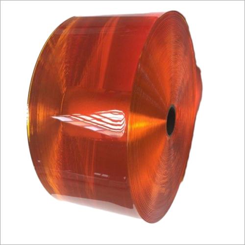 Orange PVC Strip Curtain Roll