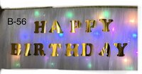 Fancy Happy Birthday Banner With Lights