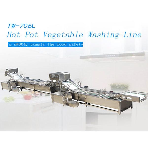 Hot Pot Vegetable Washing Line