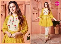 Lapink By Western Summer Special Tunics Top With Pant Catalogue