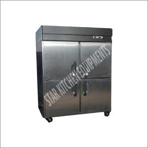 Stainless Steel Four Door Vertical Freezer