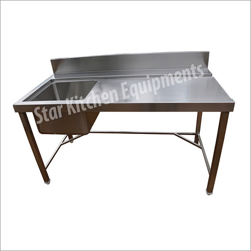Stainless Steel Loading Table With Sink