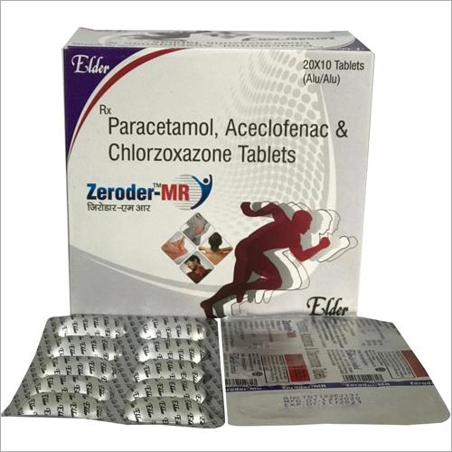 Paracetamol Aceclofenac and Chlorzoxazone Tablets
