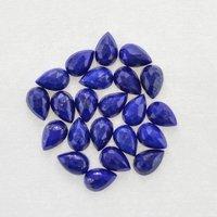 4x6mm Lapis Lazuli Rose Cut Pear Loose Gemstones
