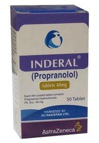 Inderal 40m G 50 Tablets