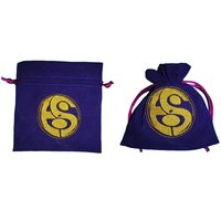 Embroidery Logo Velvet Drawstring Jewelry Pouch