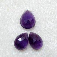 7x10mm African Amethyst Rose Cut Pear Loose Gemstones