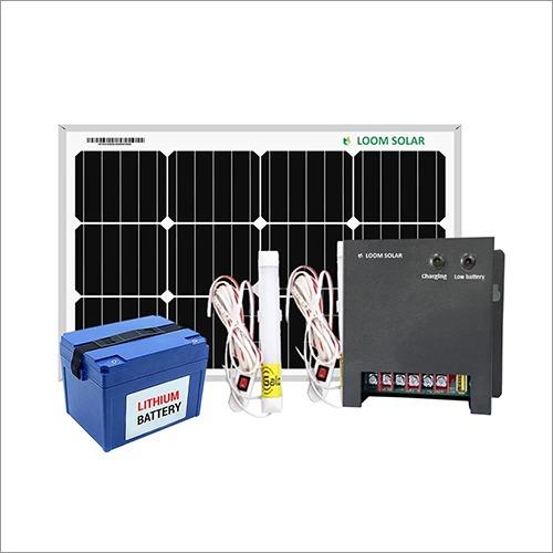 Loom Solar 50 watt Home Lighting System for Mobile Charging, Lighting for Villages