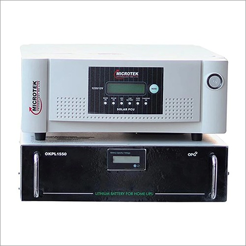 1 kVA Inverter with 1 kWh Lithium Battery for 4-5 Hours Power Back Up