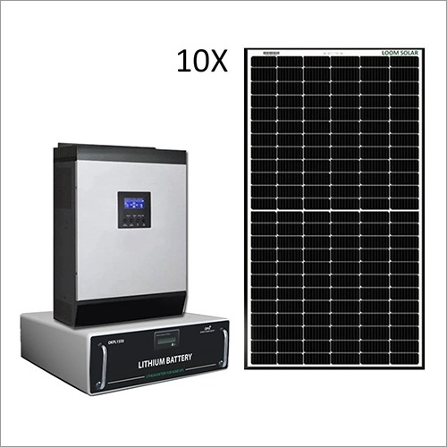 Loom Solar 5 kW Off Grid Solar System for Homes, Small Office, Shops
