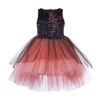 Toy Balloon Kids Girls Party wear High Low Dress
