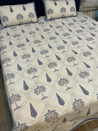 Hand Block Printed Bedcover