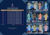 Poonam Designer By Collection Cotton Jacquard Strip Kurtis
