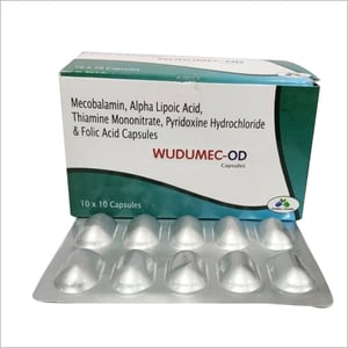 Mecobalamin,Alpha Lipoic Acid Thiamine Mononitrate Pyridoxine Hydrochloride And Folic Acid Capsules