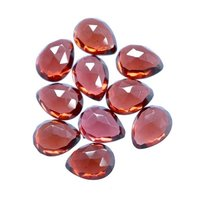 6x9mm Mozambique Red Garnet Rose Cut Pear Loose Gemstones