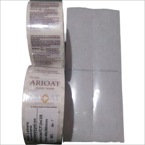Transparent Label for Product And Barcode Label