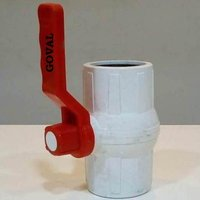PP Solid Ball Valve White MS Patti Handle
