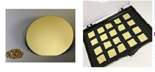 Gold Coated Silicon Chips