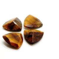 12mm Tiger Eye Faceted Trillion Loose Gemstones