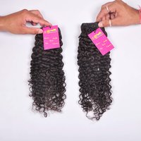 Natural Raw Unprocessed Virgin Cuticle Aligned Curly/wavy Human Remy Hair Bundle With Closure Frontal Human Hair