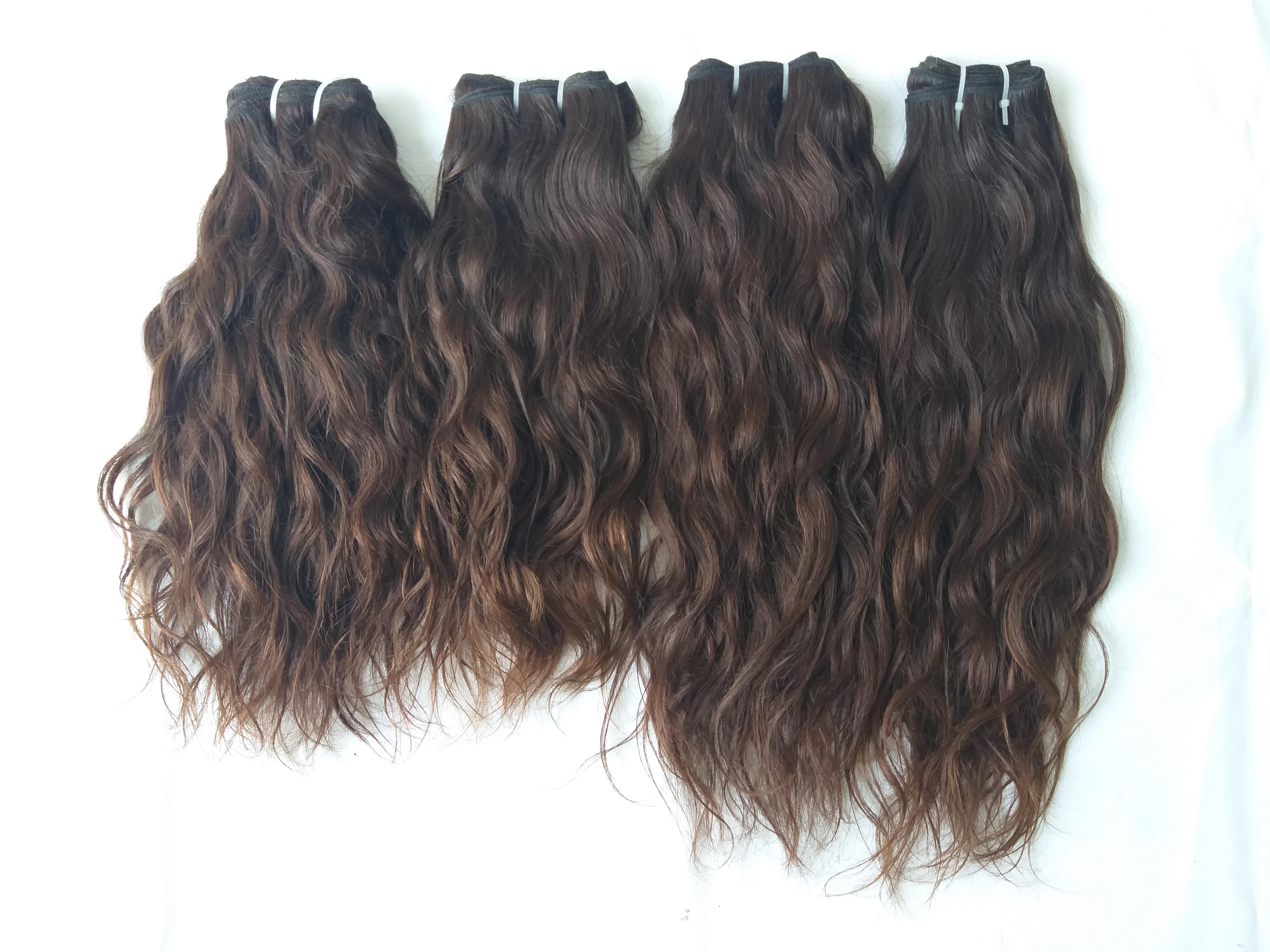 Vintage Wavy Human Hair Extensions