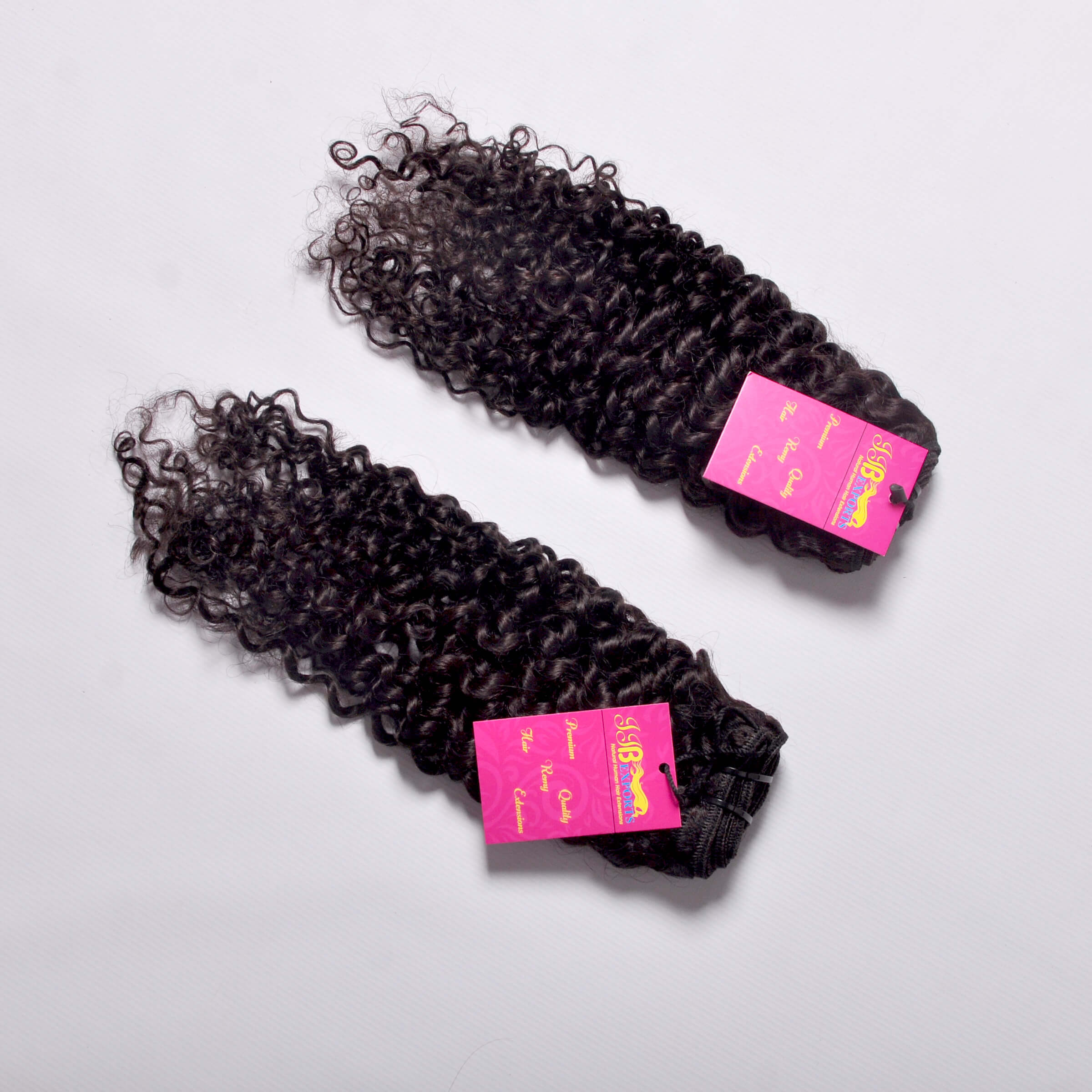 Indian Virgin Cuticle Aligned Raw Natural Curly Human Hair Bundle With Lace Closures And Lace Frontals