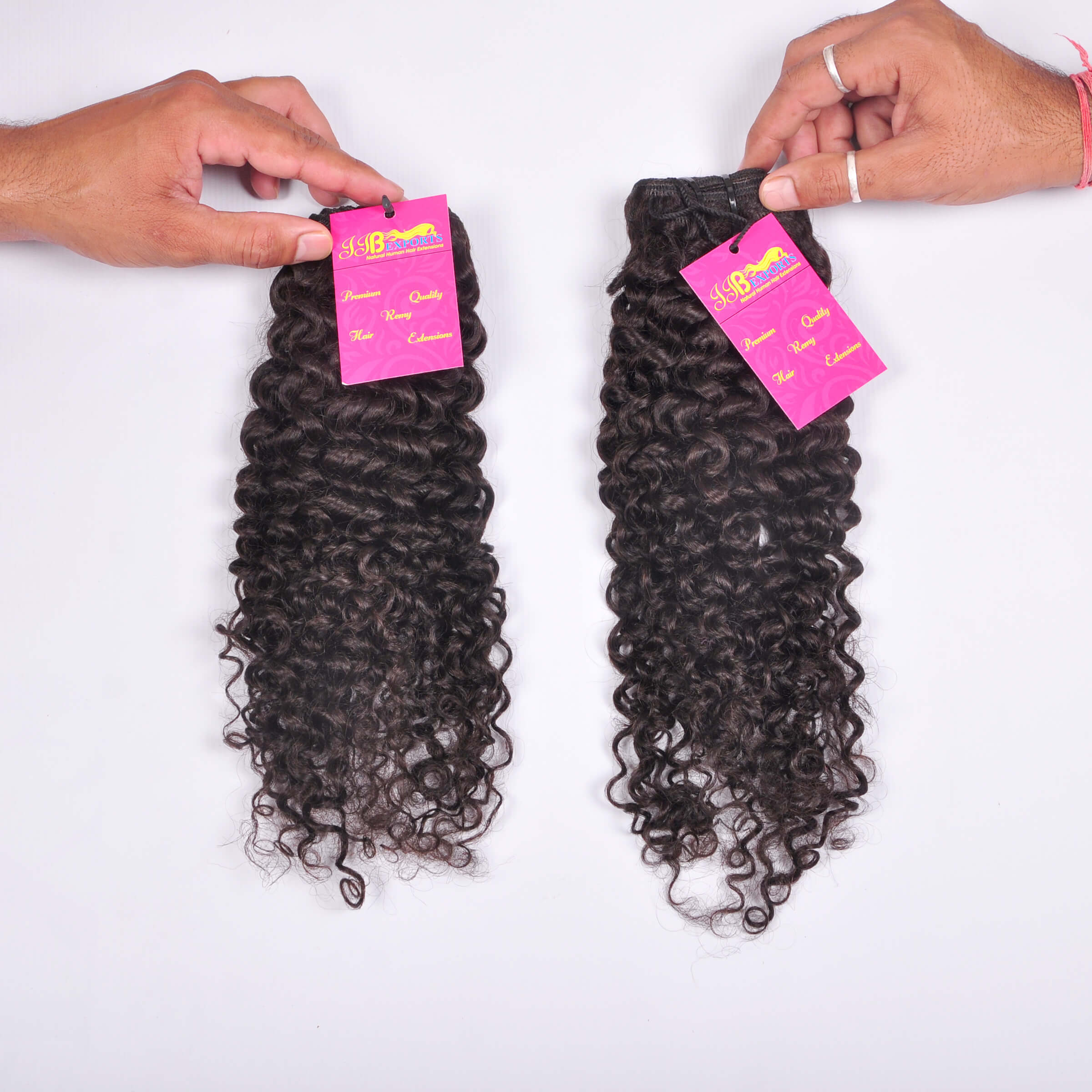 Indian Soft & Silky Natural Raw Mink Unprocessed Human Curly Hair Extensions