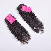High Quality 100% Natural Indian/brazilian Human Hair Curly/straight/wavy Hair Bundle