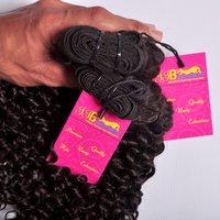 Premium Quality Indian Single Drawn Temple Virgin Brazilian Remy Curly Human Hair Bundle