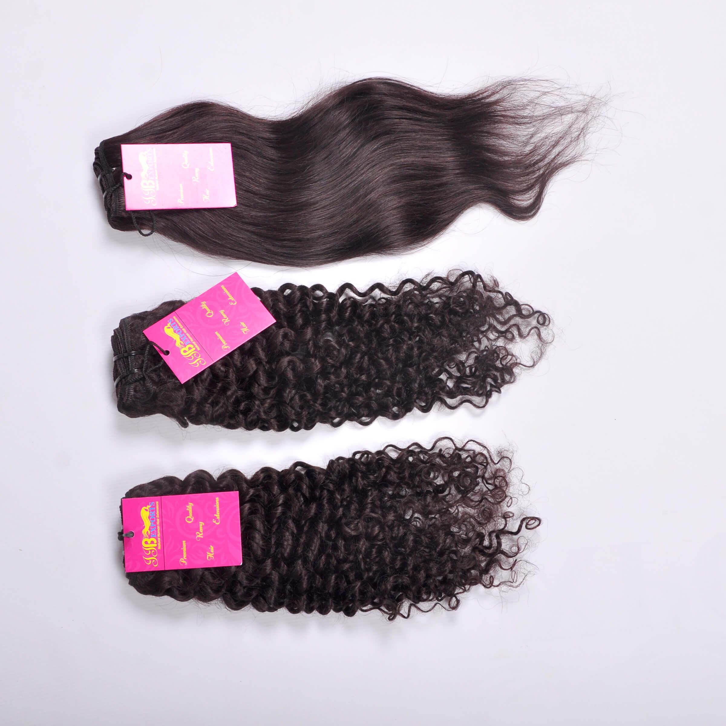Super Single Double Drawn Straight/wavy/curly Human Hair Bundles Brazilian Raw Virgin Hair With Closure Frontal
