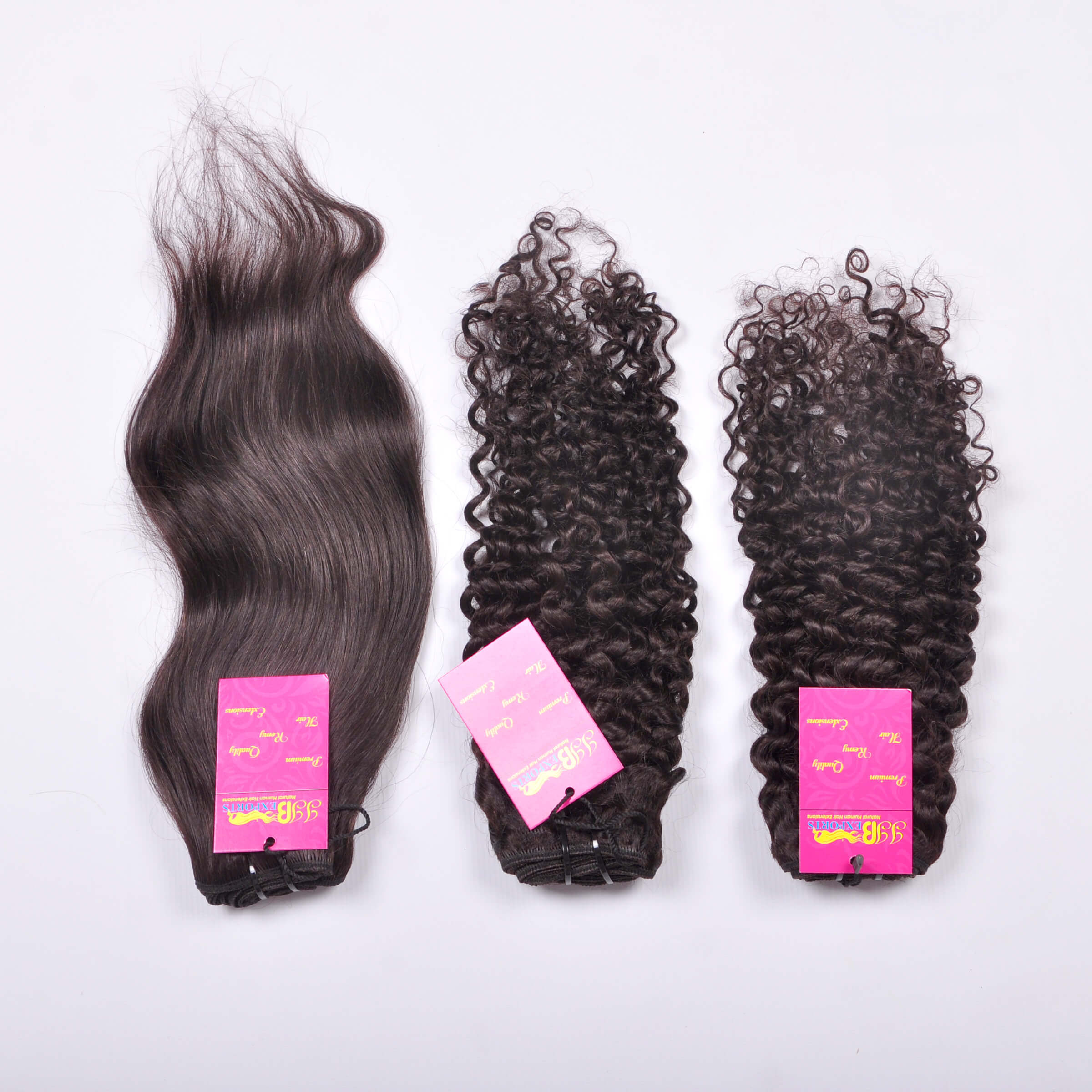 Straight Virgin Indian Soft & Silky Wavy/curly Remy Wefted Human Hair Bundle With Closure Frontal Hair