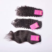 Indian Raw Unprocessed Single Drawn Machine Wefted Tangle Free Curly/straight/wavy Human Virgin Hair Bundle