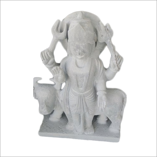 White Marble Lord Shani Statue