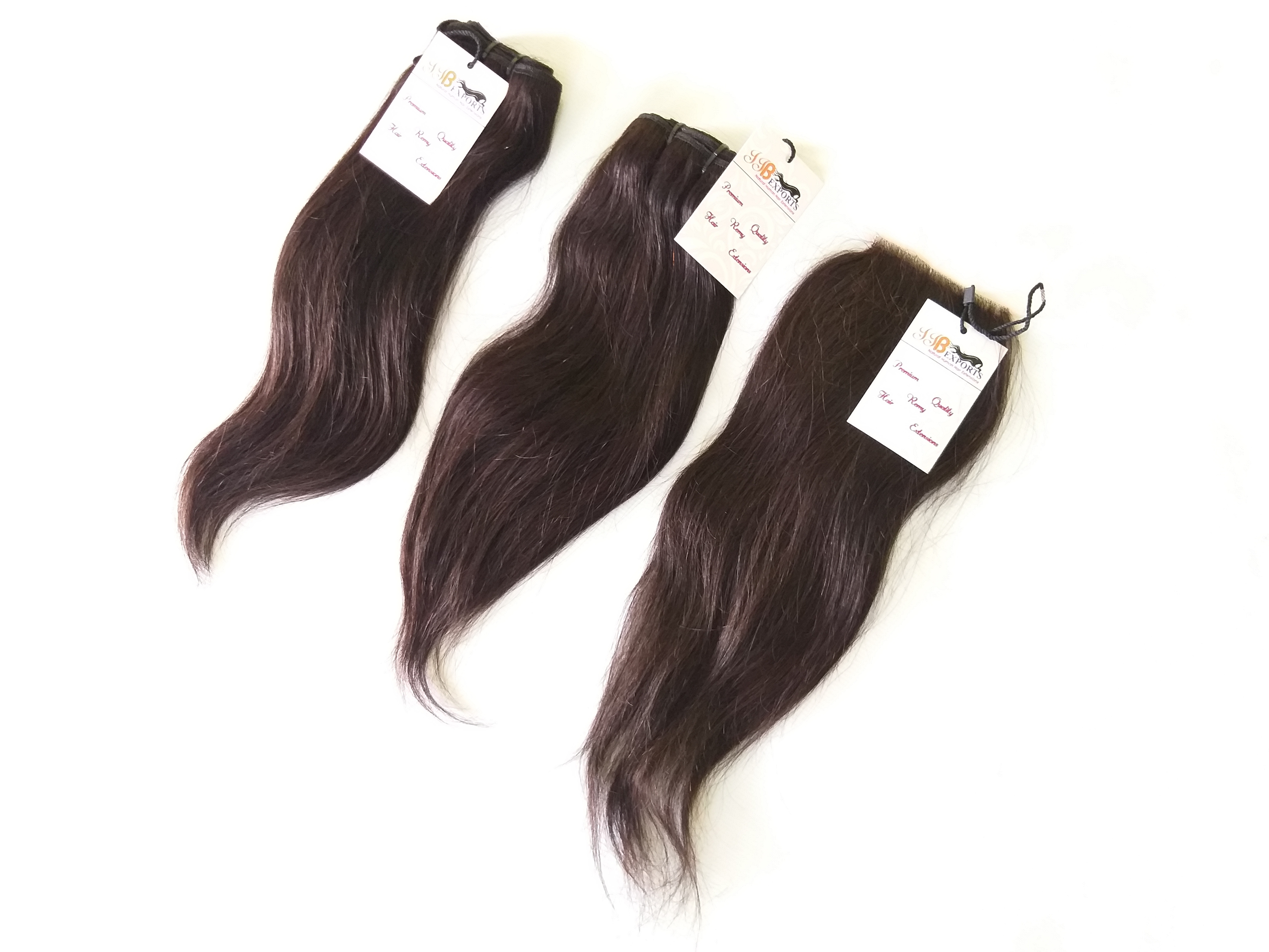 Natural Raw Virgin Cuticle Aligned 100% Natural Color Straight Remy Human Hair Extensions