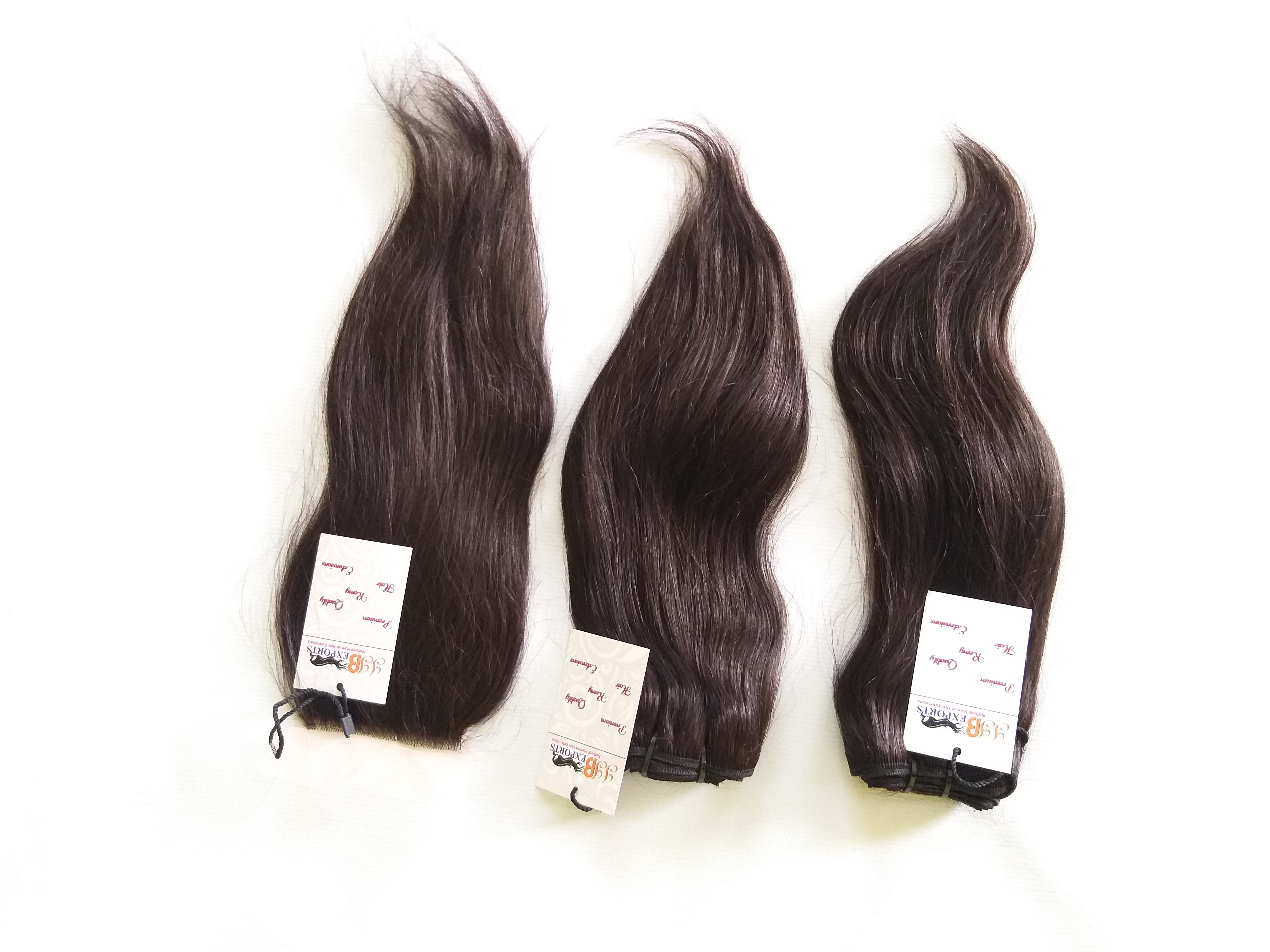 100% Natural Hair Raw Double Weft Remy Cuticle Aligned Straight Virgin Indian Human Hair