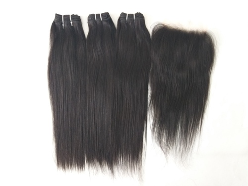 Indian Straight Hair With Lace Closure