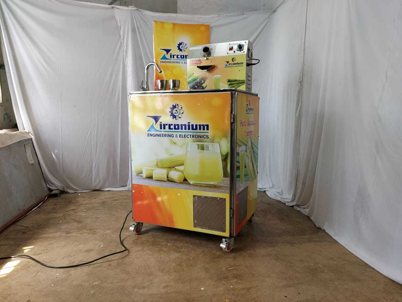 Sugarcane Juicer with Chilling System