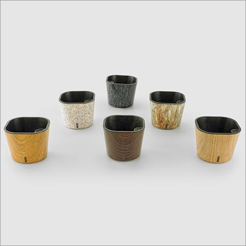 Cube Printed Series Self watering Pot