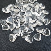 8mm Crystal Quartz Faceted Trillion Loose Gemstones