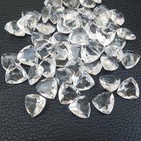 9mm Crystal Quartz Faceted Trillion Loose Gemstones